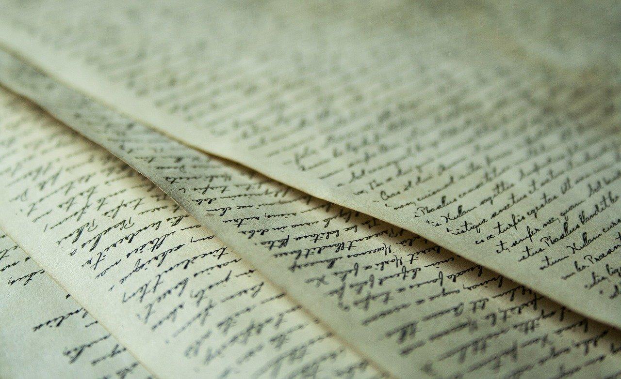 paper, font, old