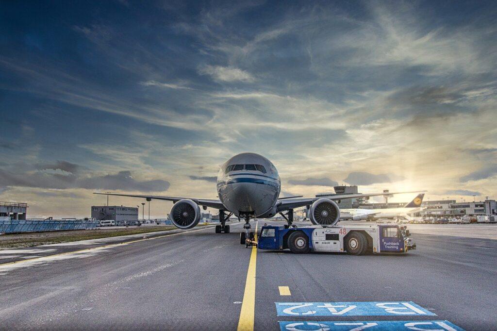 airplane, runway, airport